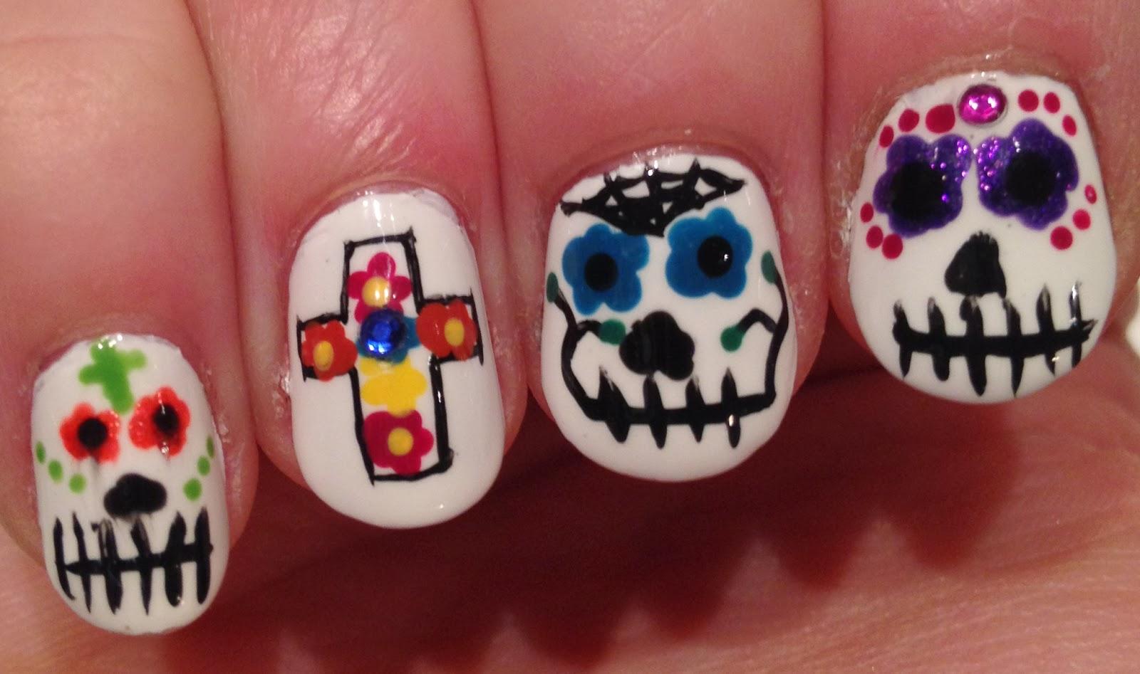 Castinails: Dia De Los Muertos Nail Art