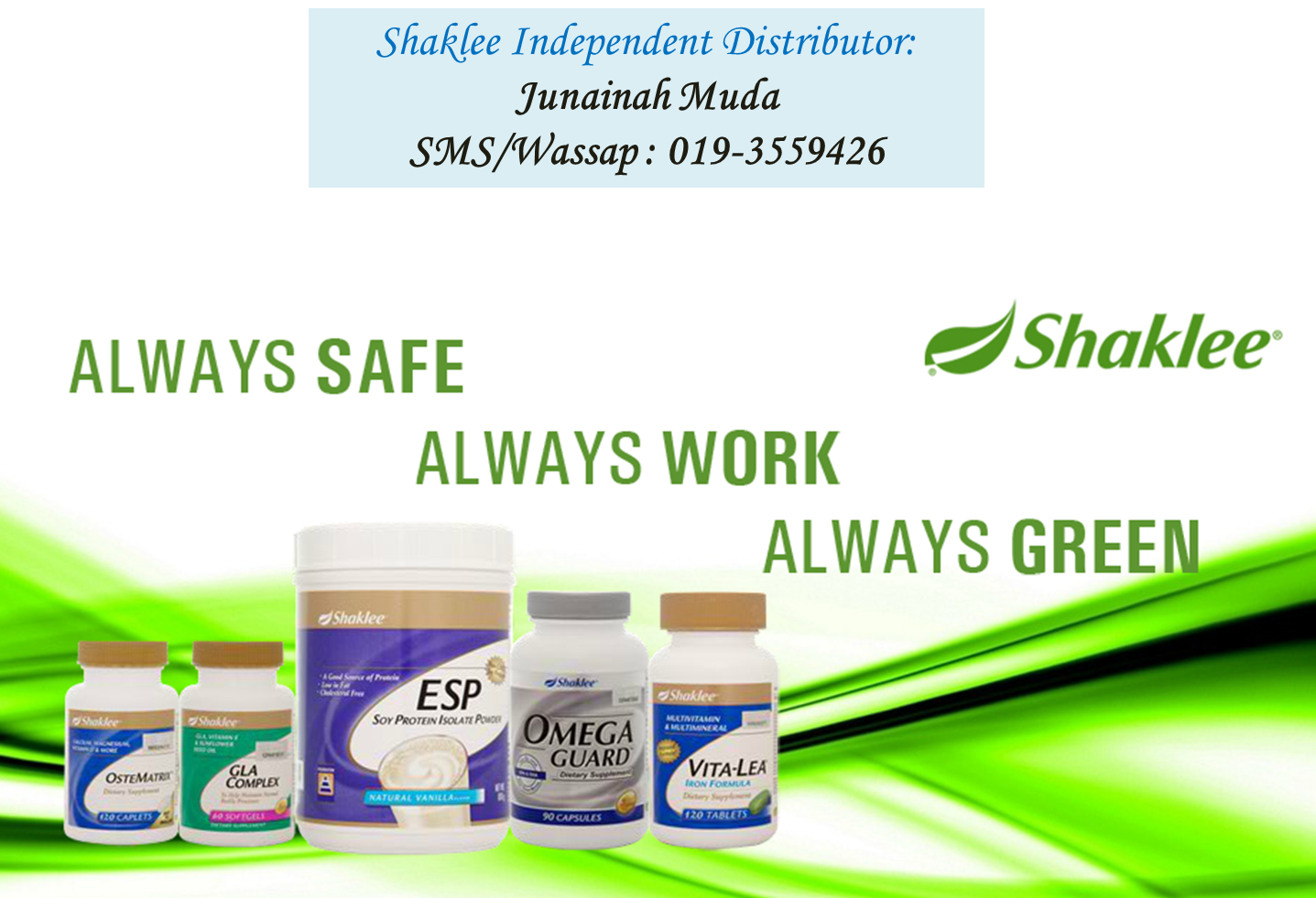 I am a Shaklee Independent Distributor