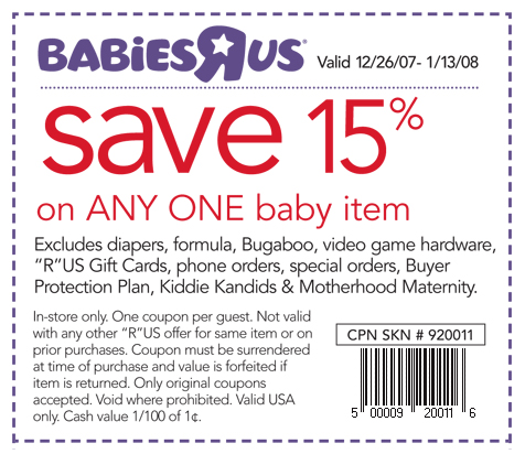Babies r coupons