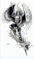 Warrior Angel Tattoo Design,Guardian Angel Tattoo Design,Angel tattoo design for men