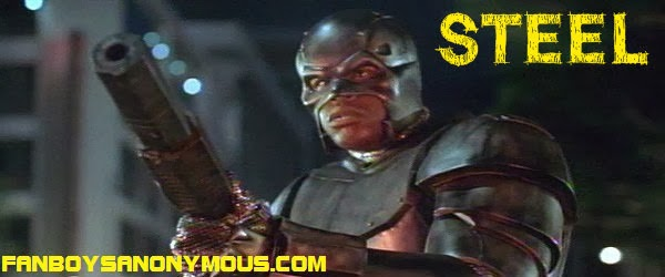 NBA basketballer Shaquille O'Neal as John Henry Irons in DC comics movie Steel