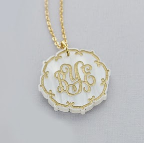 Arabesque Moroccan Style Monogram Initial Necklace