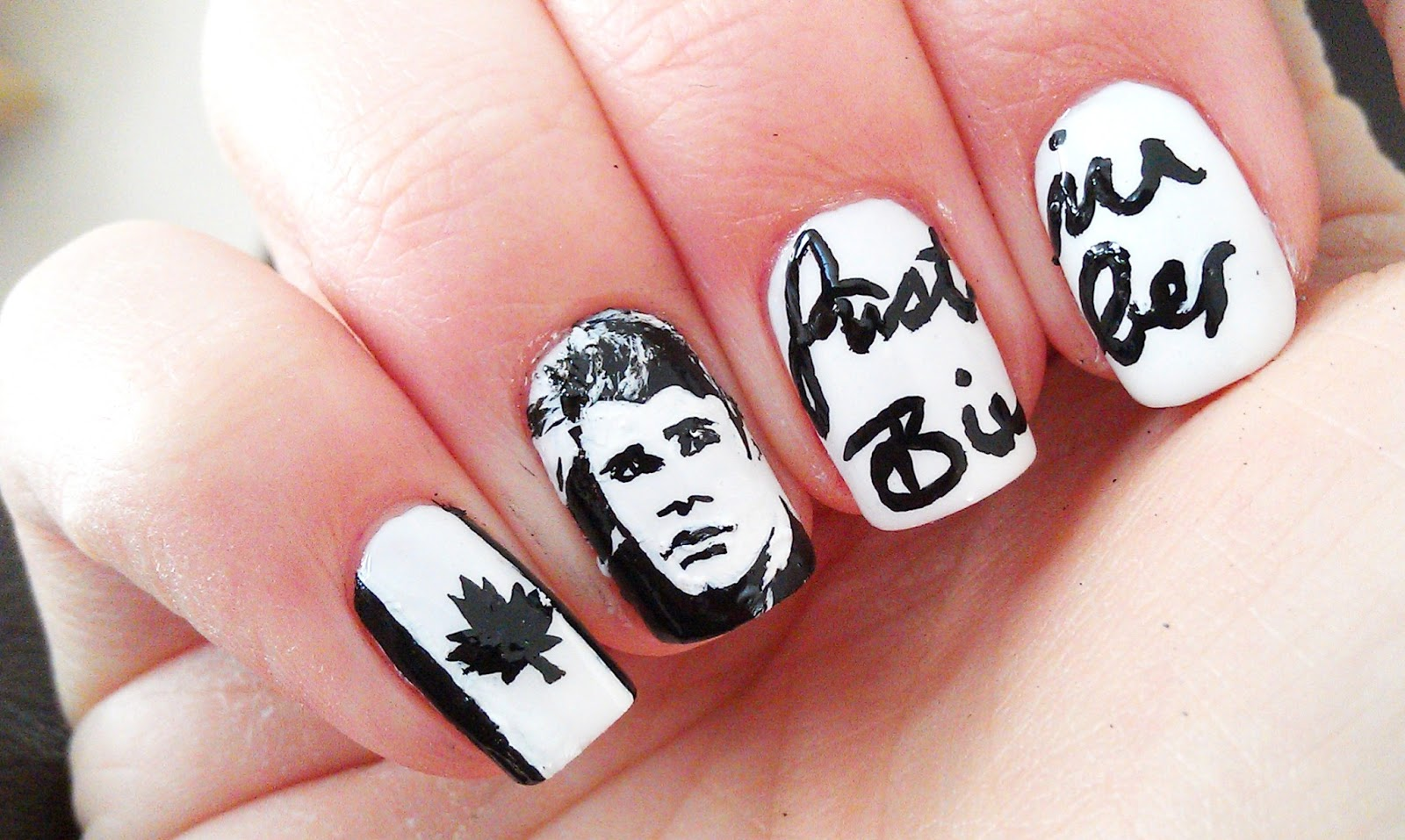 Justin Bieber Journals Nails by Me on 3/5/14   My Art - Nails ...