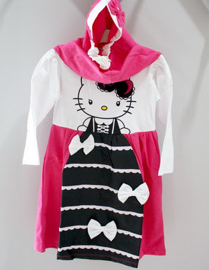 Model Baju Gamis Anak Motif Hello Kitty Tanah Abang