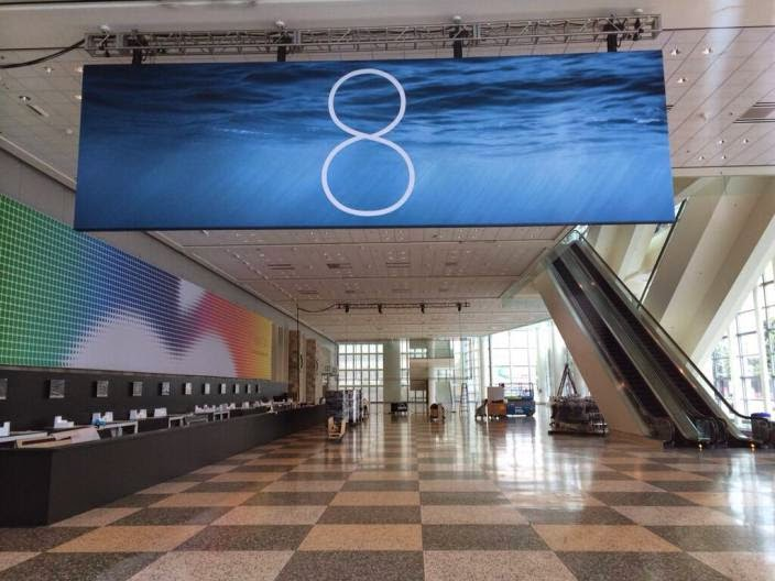 ios 8 banner moscone center