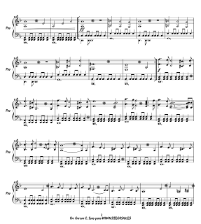 Hoja 2 Partitura para piano de La Conquista del Paraíso 1492  para principiantes de piano Banda Sonora by Vangelis Sheet Music Conquest of Paradise 1492 piano music score
