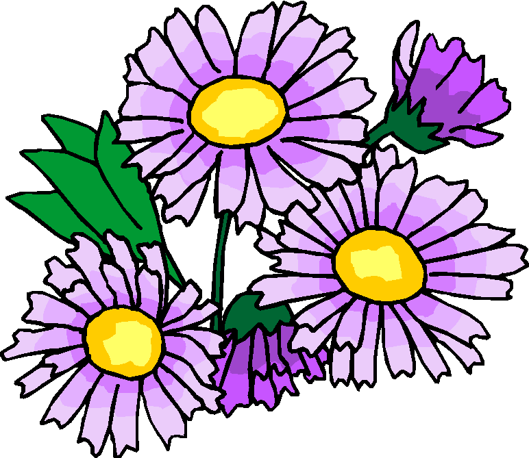 Purple Flowers Free Clipart