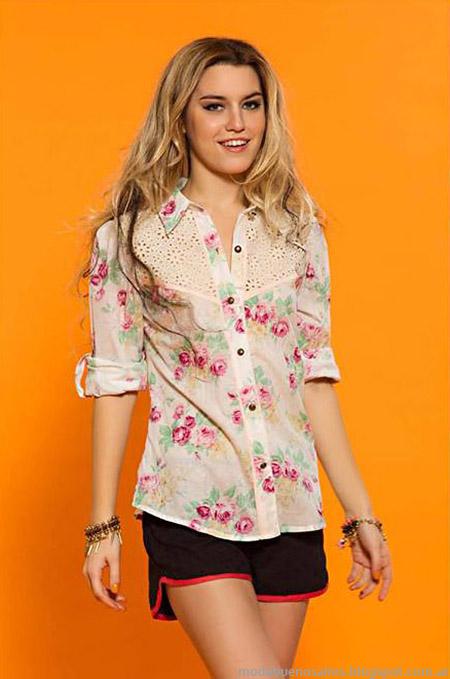 Camisa y blusas con shorts verano 2015 Sophya.