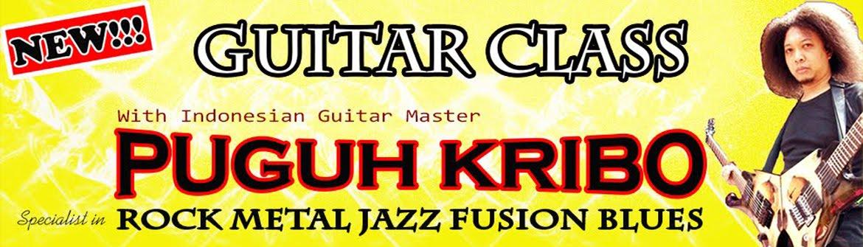Puguh Kribo | Les gitar | Kursus gitar | Belajar Gitar | Gitaris Indonesia