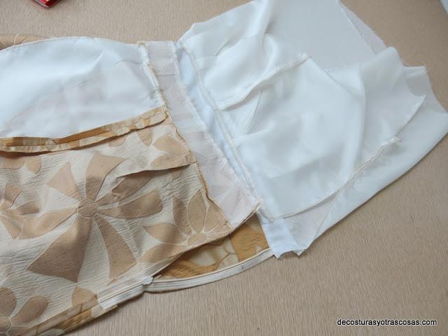 como aplicar forro a una falda