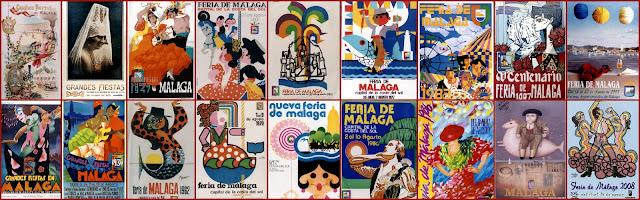 Carteles Feria de Málaga agosto