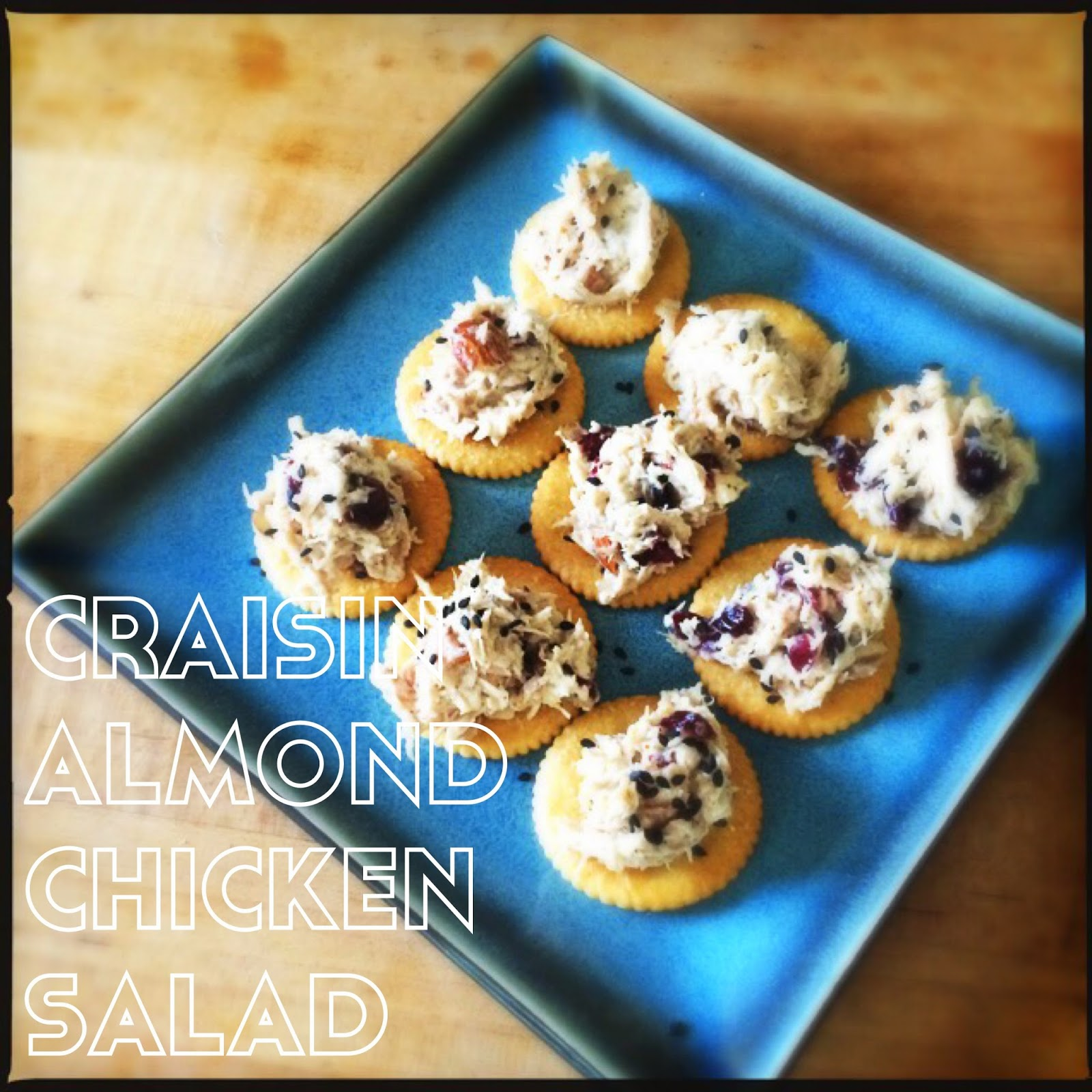Craisin almond chicken salad. Perfect summer dinner! The Graffitied Gardenia
