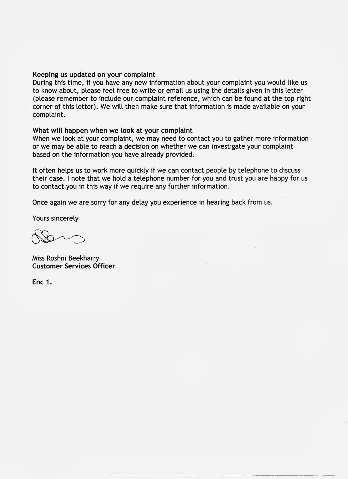 Can you help me with my complaint letter?