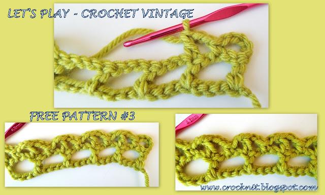 free crochet patterns, vintage, arches