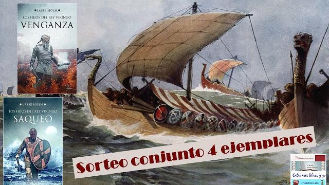 SORTEO CONJUNTO PACK LOS HIJOS DEL REY VIKINGO (LASSE HOLM)