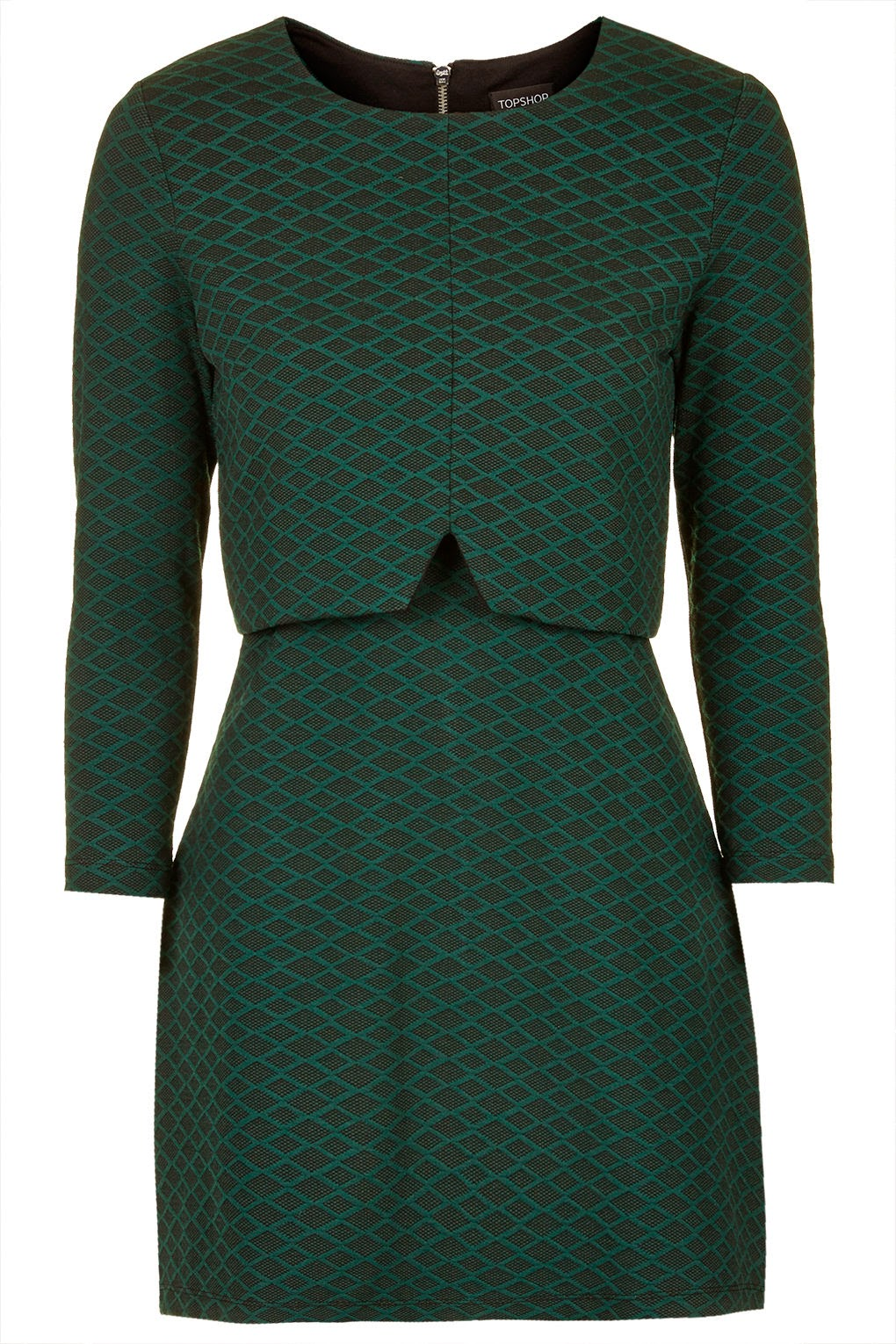 dark green long sleeved dress