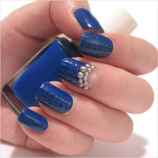 Blue & Silver Pearls Nail Art Tutorial Chanel Spring Summer 2013 Ready To Wear Show Inspired