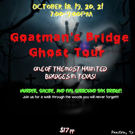 GOATMAN'S BRIDGE GHOST TOUR