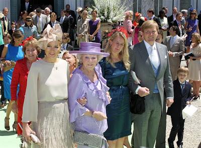 Familia real Holanda boda