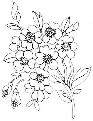 Desenhos de Flores para Imprimir