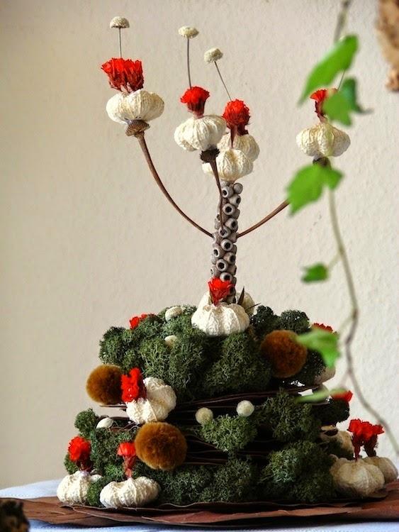 centrotavola albero di natale a forma di candeliere