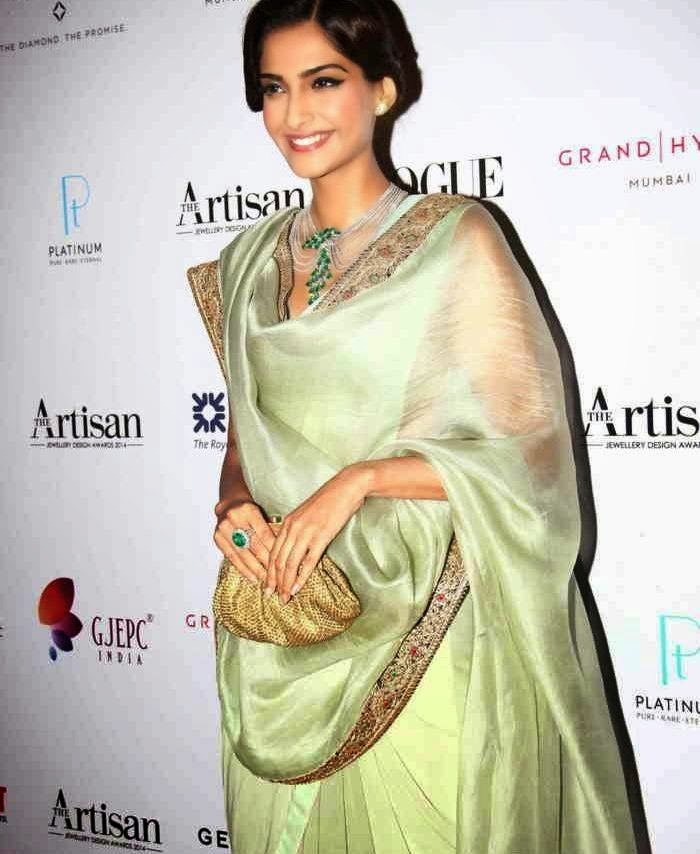 Actress Sonam Kapoor Latest Cute Hot Spicy Photos Gallery At Artisan Jewellery Design Awards