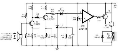 Gambar Rangkaian Sensor Ultrasonik - Receiver