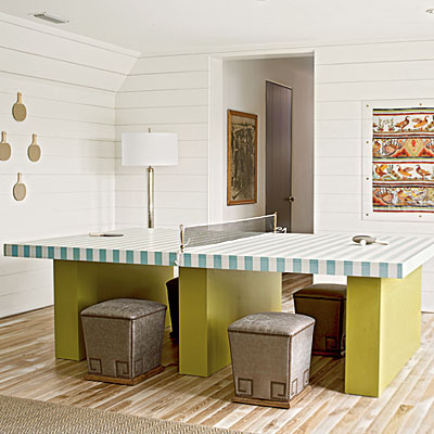 White gold coastal living ultimate beach house - How much space for a ping pong table ...