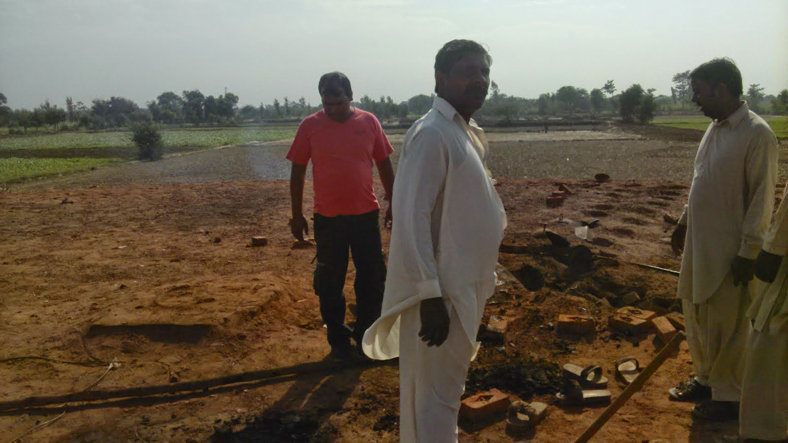 Advocate Sardar Mushtaq Gill at Place where the Couple burnt alive at Brick kiln furnace