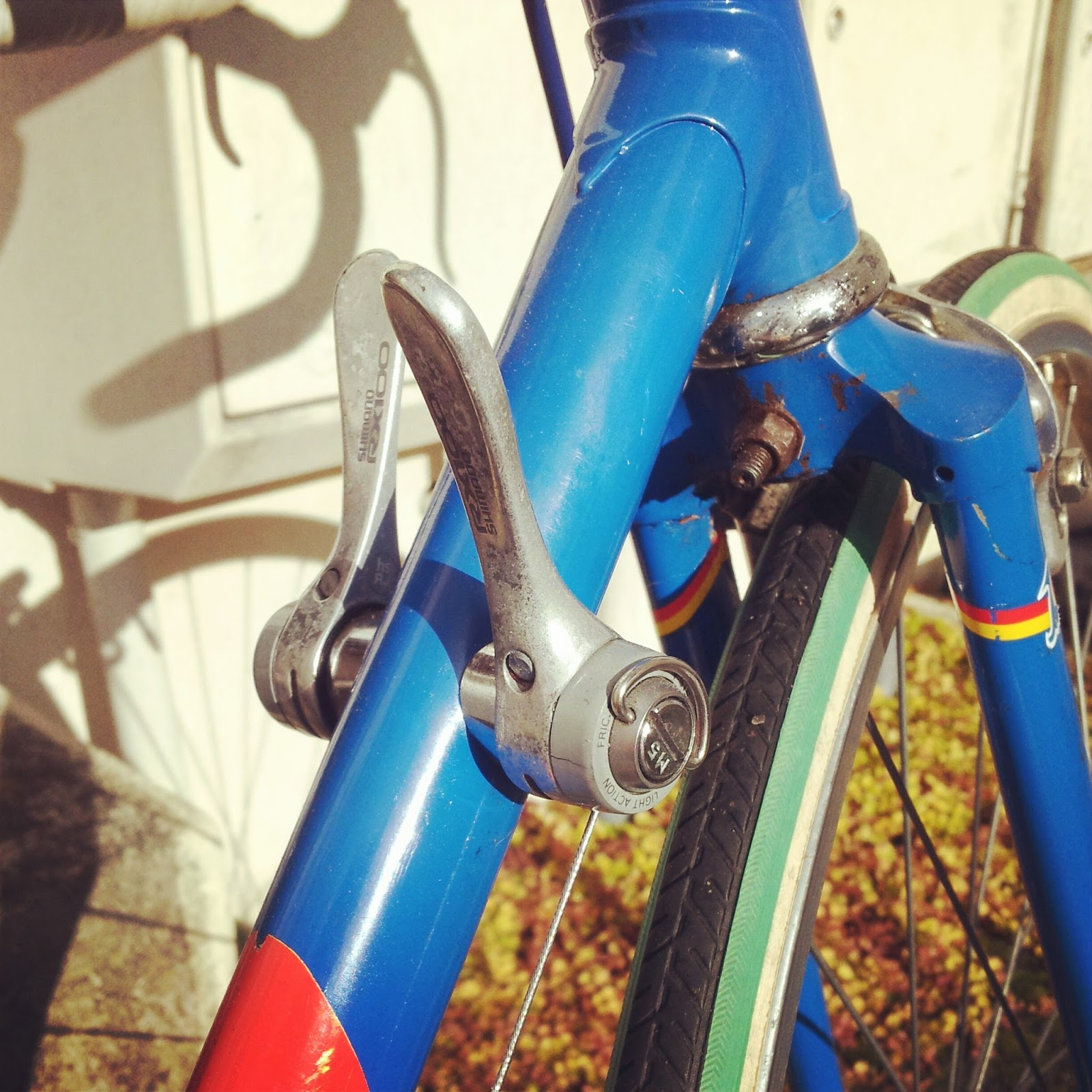 vintage road bike downtube shifters
