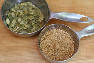 pumpkin seeds and flax seeds