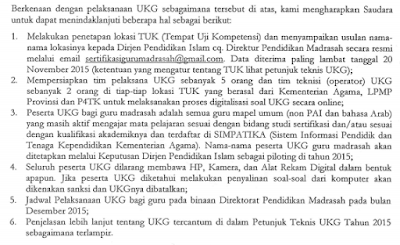 gambar surat edaran UKG kemenag