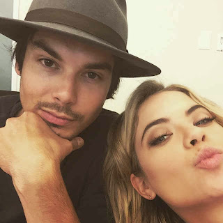 Tyler Blackburn and Ashley Benson (Caleb and Hanna) PLL BTS