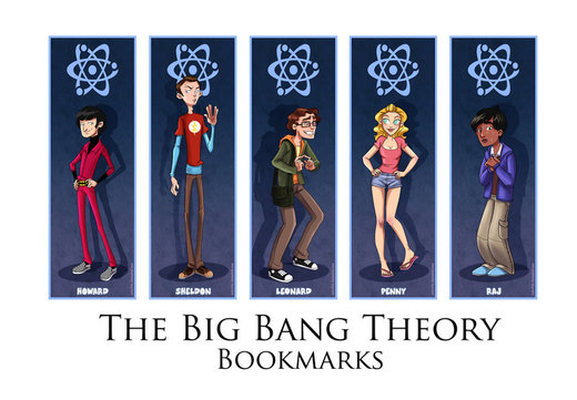 Japan Expo - The Big Bang Theory Bookmarks por coda-leia