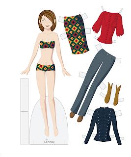 Annie - Fashion Friday Paper Doll