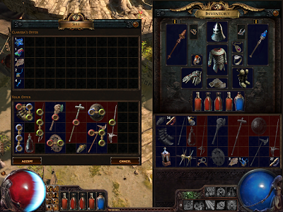 Path of Exile - Selling Stuff to NPC