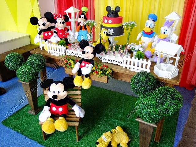 Decoração de festa infantil Mickey Mouse