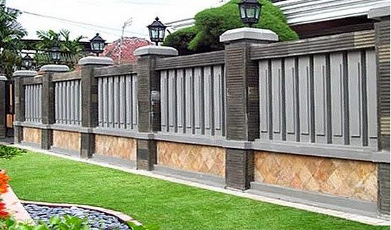 mode pagar batu alam