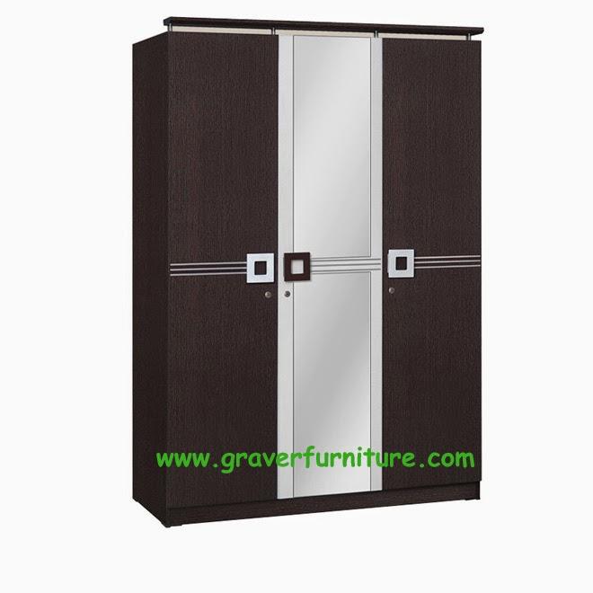 Lemari Pakaian 3 Pintu WD 298 Benefit Furniture