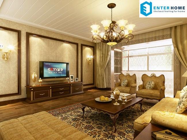 Thiết kế nội thất căn hộ cổ điển đẹp