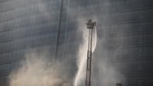 Fuego en el rascacielos de Hanoi