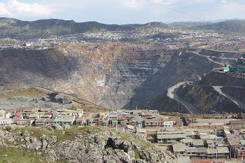 Extracción de minerales a cielo abierto