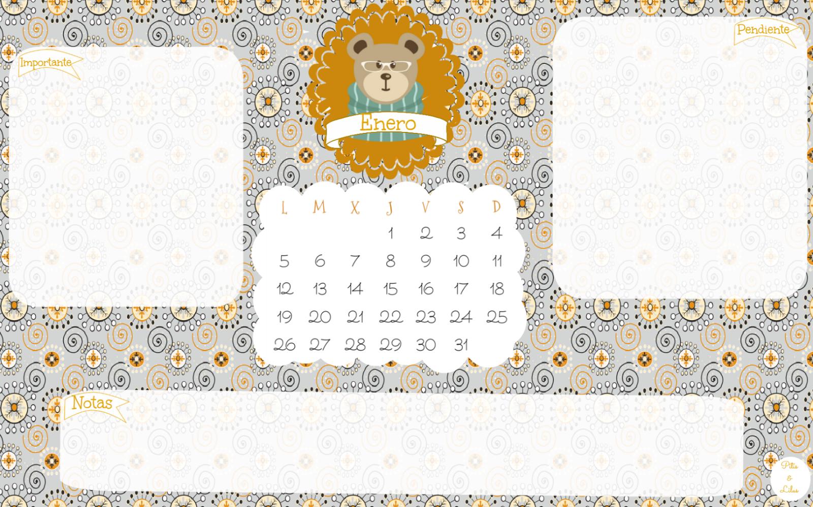 wallpaper /fondo de pantalla descargable imprimible enero 2015 castellano,euskera,catalán, inglés