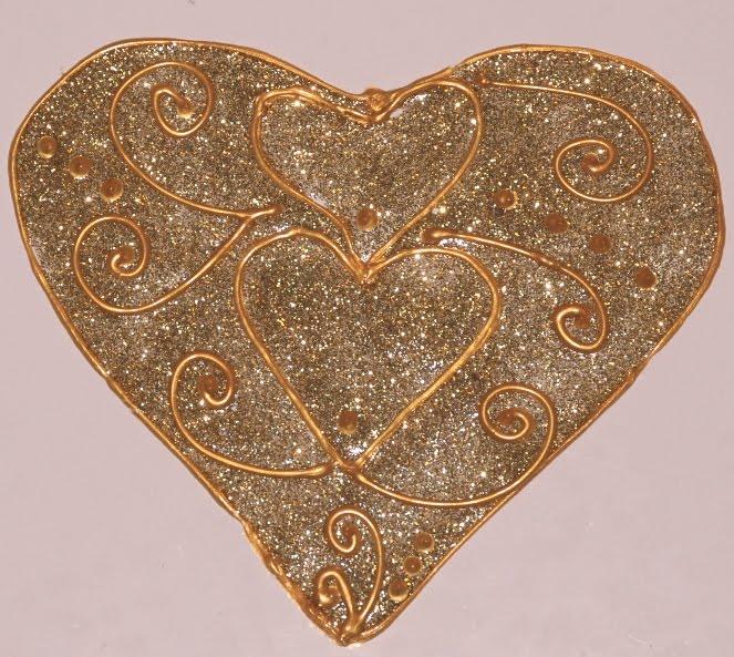 Üvegmatrica szív