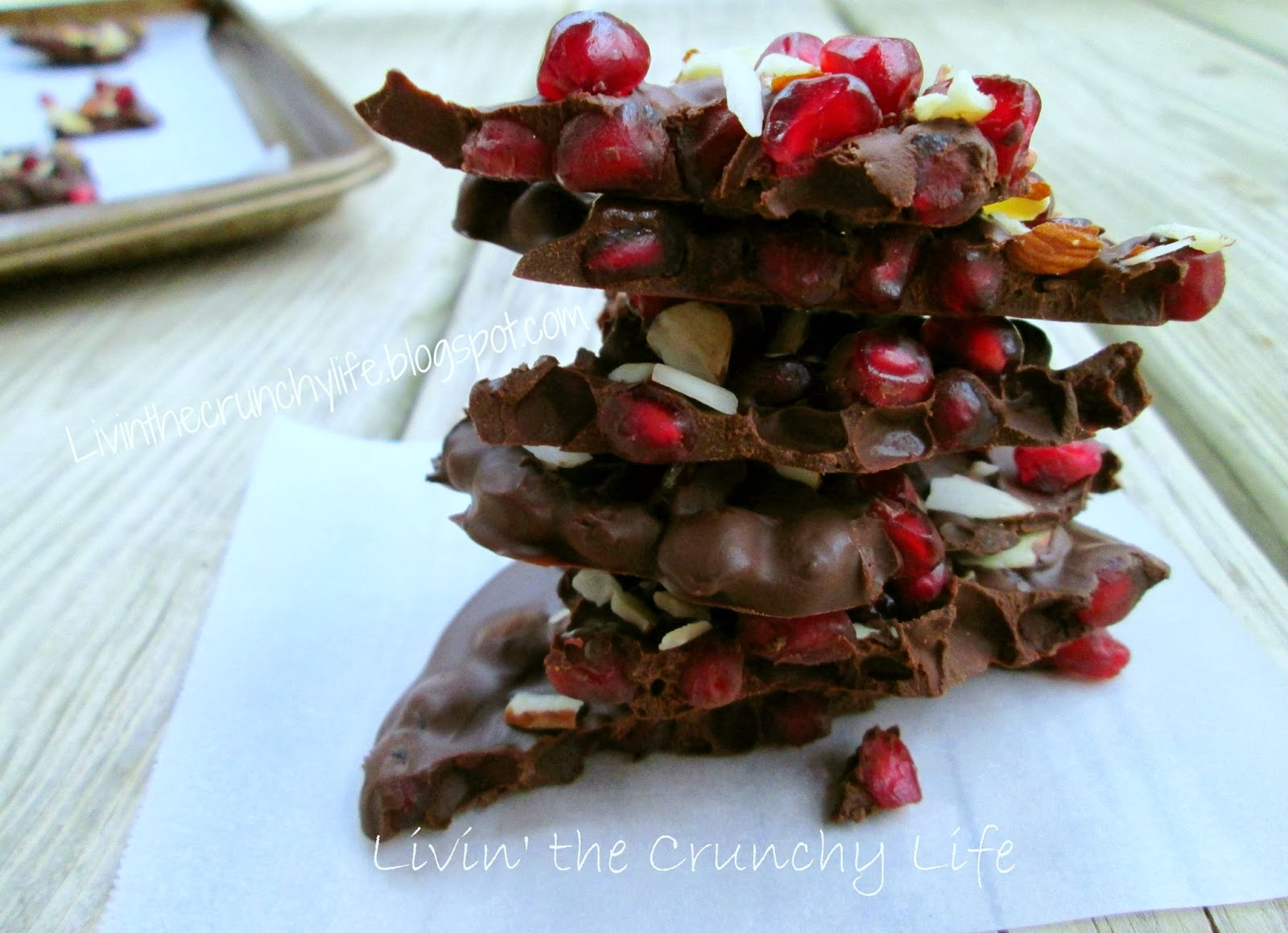 Almond Pomegranate Bark