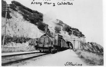 Areny de mar y Caldetas Locomotora  MZA 461