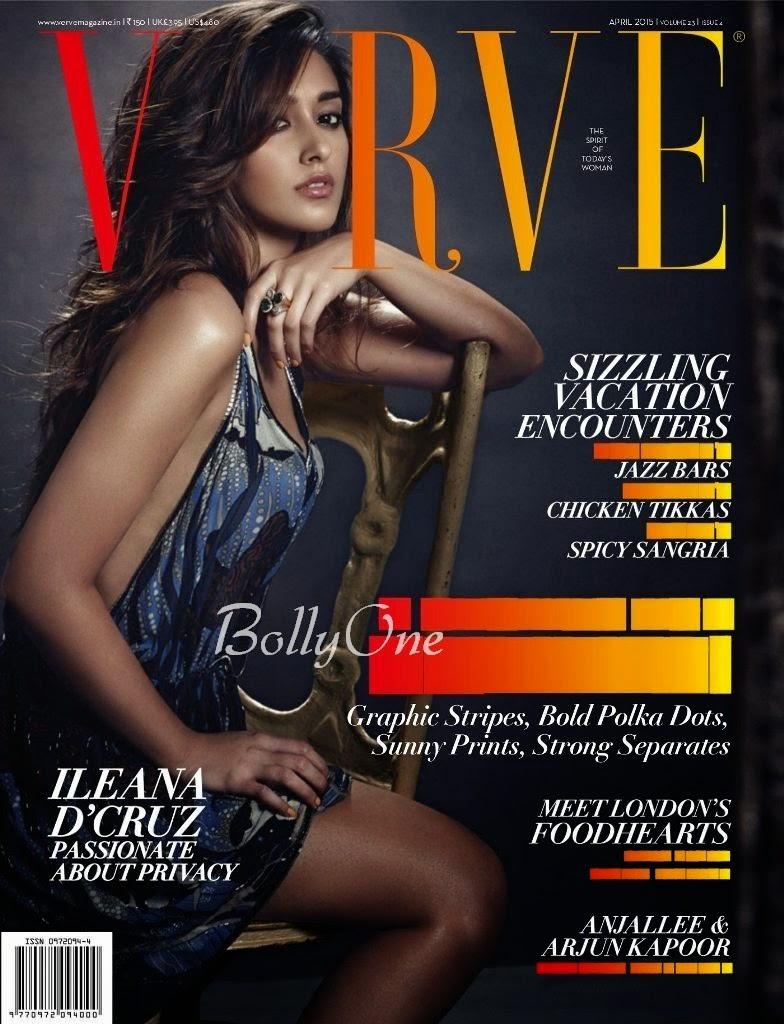 Actress, Model @ Ileana D'Cruz - Verve  India, April 2015