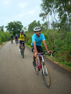 IISc Bikers Network riding past Dodda Byalkere to Rajankunte along Avalahalli State forest