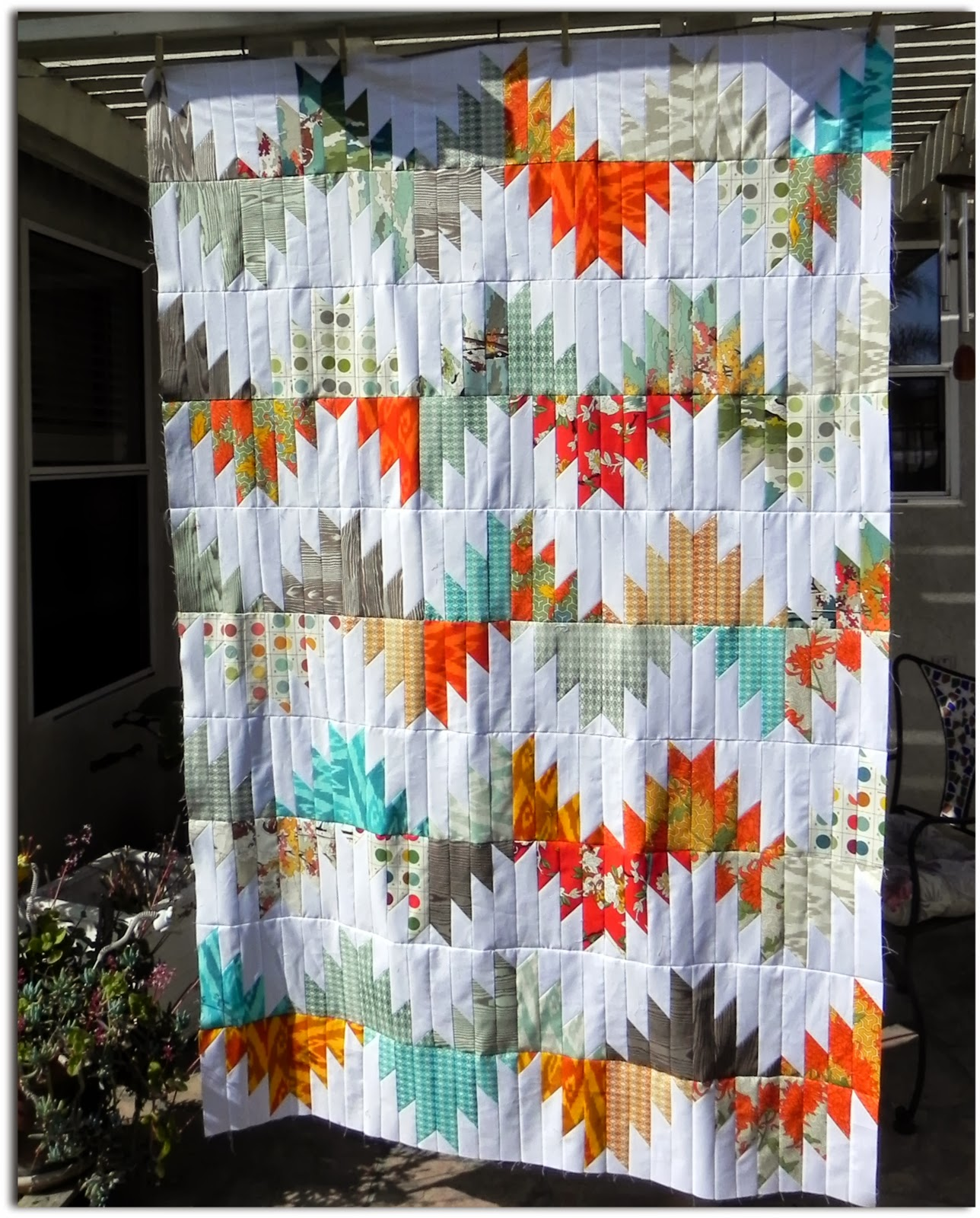 Janice Elaine Sews: Delectable Mountain Quilt Top is finished : delectable mountain quilt - Adamdwight.com