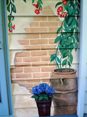 trompe loeil tuscan mural, tuscany mural, eugene muralist